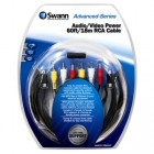 Swann SWADS-18MAVC Audio Video & Power 60ft / 18m RCA Cable