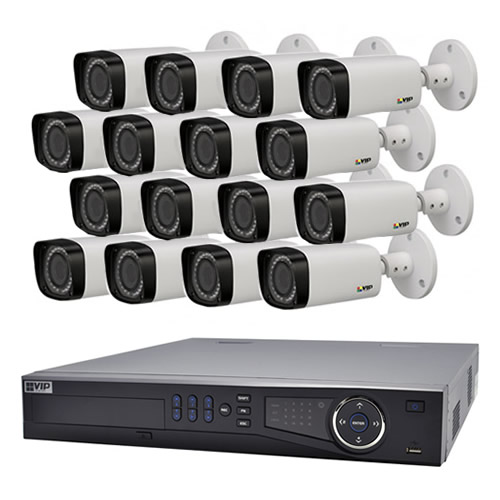 Vip Vision 16 Channel Ultra Hd Nvr With 16 X 3mp Motorised