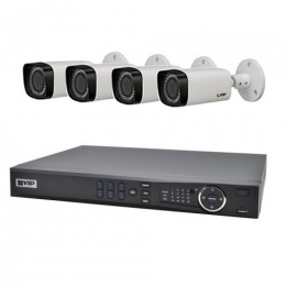 VIP Vision 8 Channel Ultra HD NVR with 4 x 3MP Motorised Varifocal Bullet Cameras