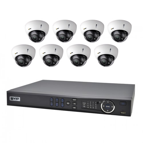 Vip Vision 8 Channel Ultra Hd Nvr With 8 X Motorised
