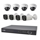 VIP Vision 8 Channel NVR with 4 x Dome and 4 x Bullet Motorised Varifocal 3MP Cameras